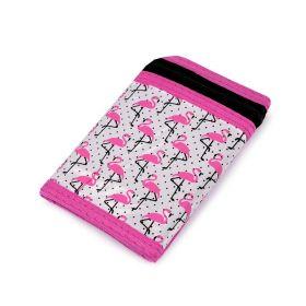 Dívčí látková peněženka s řetízkem Růžový plameňák