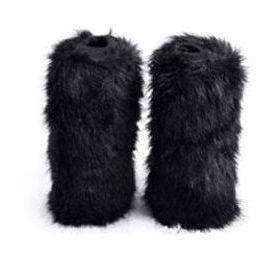 Návleky na nohy s umělé kožešiny - 40cm