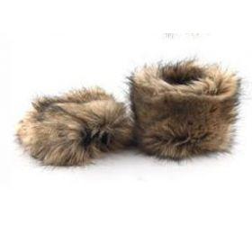 Návleky na nohy z umělé kožešiny - 15cm
