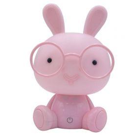 Dětská led stmívající stolní lampička Růžový králík